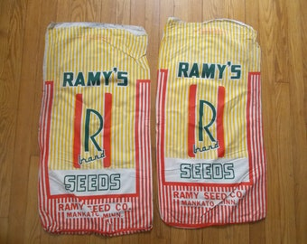 Vintage Feed Sacks Grain Sacks