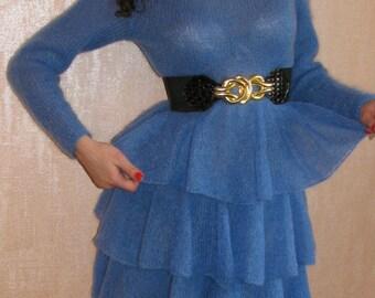 Dress knitted mohair,dress knit, dress handmade,dress women