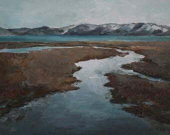 Art card print- Run Off-   by Lauriann Wakefield  of Bear Lake