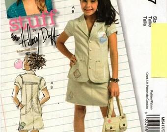 UNCUT Hilary Duff McCall's Pattern M5417 - Girls Jacket & Skirt - 12-16