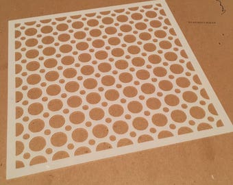 Square 8.5 inch stencil - dot / lacy pattern