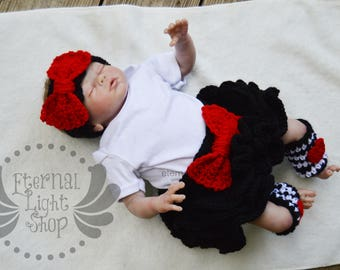 ANY COLORS Crochet Tutu Skirt Leg Warmers and Headband Newborn-12 Months Hearts ONESIE not included.