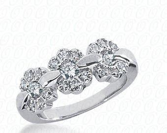 14k Gold Unique Diamond Wedding Band #WB1575