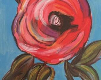"Rose #2 Art Print 8"" x 10"""