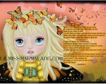 5x7 Butterfly Kaddish Art Print