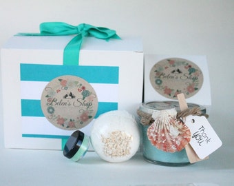 4pc Ocean Breaz Gift set//Maid of honor Gift// Brides Maid Gift set.