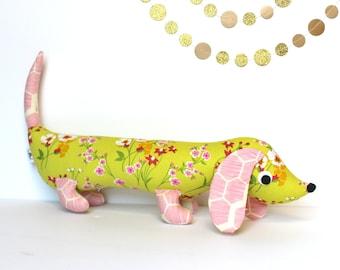 Wiener Dog Toy, Plush Dachshund, Weiner Dog Stuffie, Unique Girls Gift ALMA