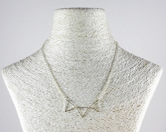 Triple Triangle chain necklace