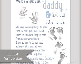 Walk Alongside US, Daddy - 11x14 Art Print - INSTANT DOWNLOAD - Father's Day Gift - Three Color Options Included!