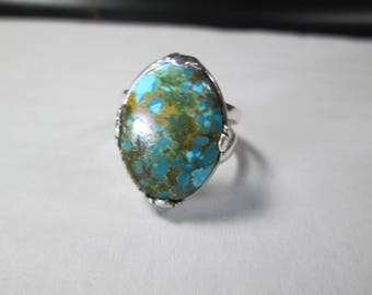 ring, size 7 1/2...turquoise... sterling silver