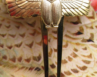 Scarab hair comb Exotic Egyptian revival scarabs hair accessories bridal hair ornaments Large Decorative Hair Comb