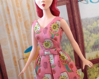 "NEW! PINK ""Cut and Sew"" Belle dress by Marirose for Barbie"