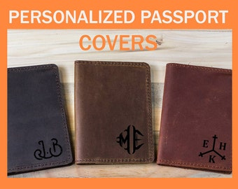 Personalized passport cover, Passport Leather Cover, Passport Wallet, Passport Holder, Leather Passport, Travel Wallet, Two passports