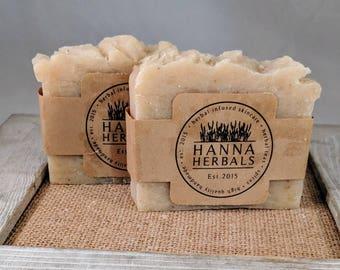 Basil Green Tea Cold Processed Soap - Organic Coconut Oil - Oilive Oil Soap - Lard Soap - Kitchen Soap