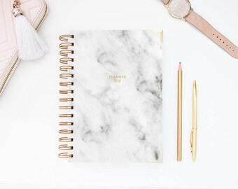 A5 Planner - 2018 Planner - 2018-2019 Planner - Personalized Planner - 2018 Diary - Custom Gift -  2018 Agenda - Diary - Planner - Agenda
