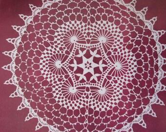 """Crochet Pattern - Swirls Doilie - 12.5"""" Diameter - Vintage 1950's"""