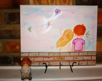 Two Children Watching Faeries at Dusk