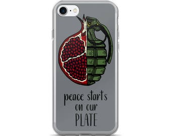 peace starts on our plate iPhone case [7/7plus] grey