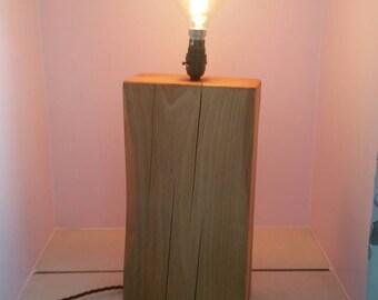 Beautiful vintage looking oak lamp