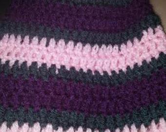 Stripped hat, crochet hat