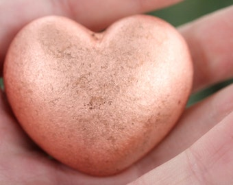 Michigan Native Copper Heart