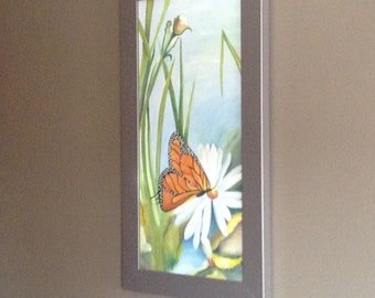 Oil painting.  Butterfly pollen