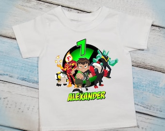 Ben 10 Personalized T Shirt Boys Birthday Any Age