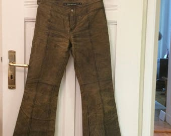 Vintage DKNY JEANS Womens Leather Pants
