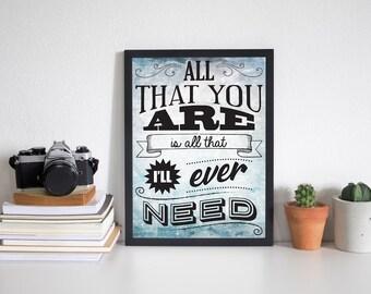 Ed Sheeran Lyric Typography Art