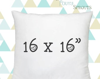 """Faux Down Pillow Inserts, Soft Throw Pillows, Pillow Cushions, Couch Pillows, Throw Pillow Inserts, 16x16"""""""
