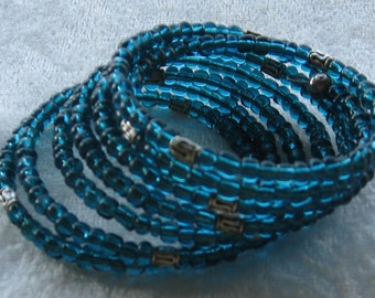 Nice Turquoise Blue Glass Bracelet