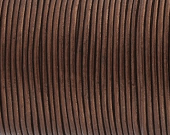 Leather Strap / Leather Cord *Metallic Bronze* - 2 mm | Top quality and soft goat skin 2/5 m - RL00502