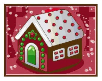 Gingerbread House Cross Stitch Chart