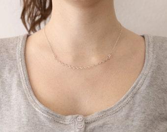 Chevron-Collier - Collier en argent Sterling zig zag - géométrique collier - Bijoux minimaliste - clavicule Collier - Collier Simple