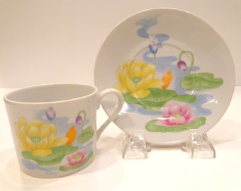 Beautiful Water Lilly Dishes-Teacup and Saucer-Saucer Only-Seymour Mann