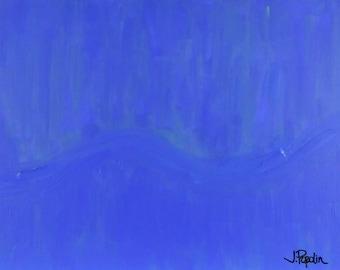 Blue River Original Painting by J. Popolin
