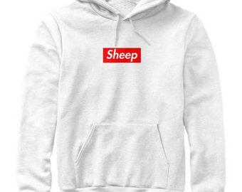 Idubbbz Sheep Supreme Box Logo Parody Hoodie