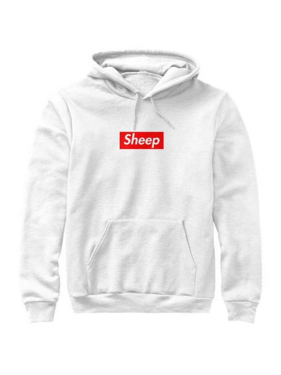 Idubbbz Sheep Supreme Box Logo Parody Hoodie