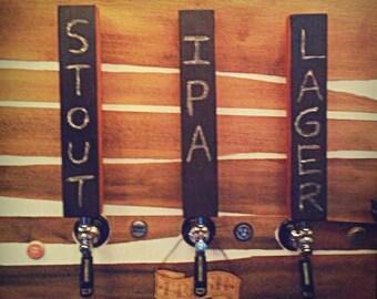 Chalkboard Beer Tap Handle, Beer Pull, Beer Lovers Gift, Custom Tap Handle, Beer Tap Handle Man Cave, Craft Beer Gift
