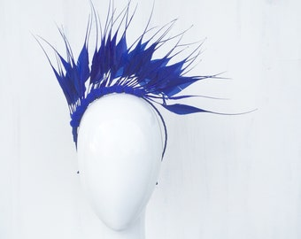 SHAKIRA: feather crown / fascinator - races, special event