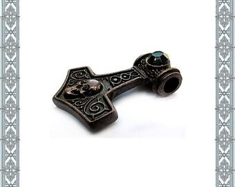 Chain pendant skull Hammer Altbronze pendant skull German jewelry Thorshammer viking Jewelry Amulet Antique Jewelry