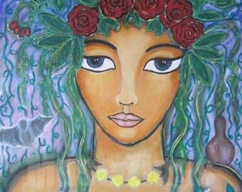 Divine Feminine Print-Harvest Goddess