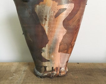 Wood Fire Pinup Vase