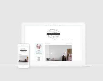 Hipster Blogger Template — Premade Blog Design — Responsive Blogger Design — Lifestyle Blog Theme — Triangle Blog Template — Clean / Lil Nat