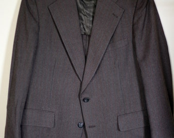 vintage brown pinstripe wool suit size 42 for young quinlans
