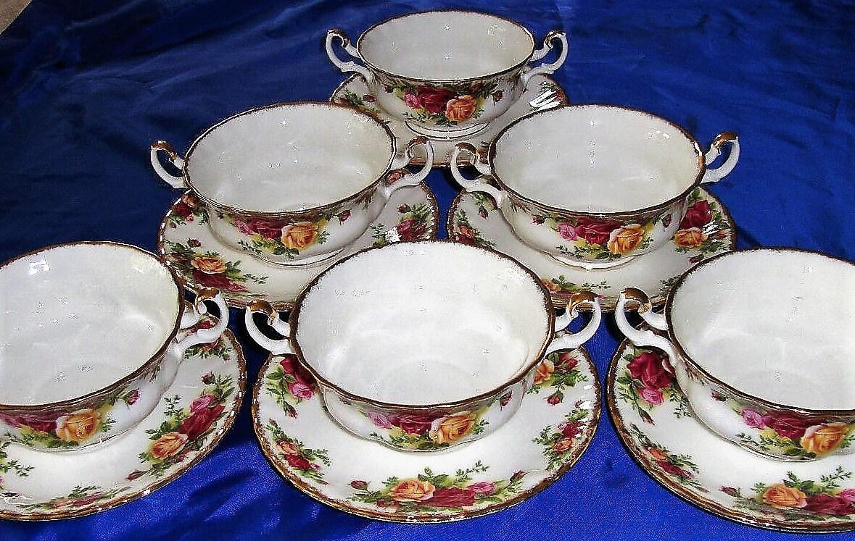 ROYAL ALBERT Old Country Roses Soup Bowls Creme Soup Bowl