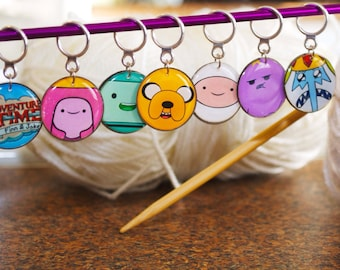 Adventure Time Stitch Markers (Set of 7)