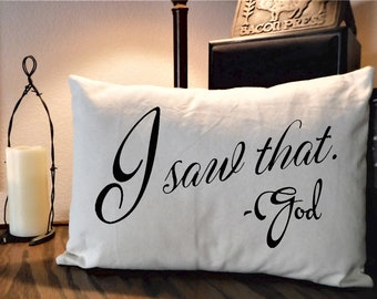 Country Pillow, Scripture Pillow, Ranch Decor Pillow, Canvas Pillow, Farmhouse Chic, Rustic Pillow, Pillows with Words, Throw Pillow