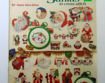 """Counted Cross Stitch booklet """"Santas to Cross Stitch"""" 1993"""