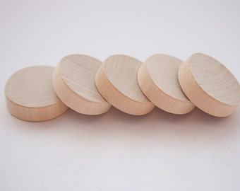 "Unfinished 1 3/8"" (3,5cm) Wood discs for wood crafts, wooden supplies"
